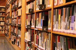 Bibliothek-Regalreihe