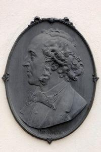 Mendelssohn Bartholdy Relief am Mendelssohn-Haus in Leipzig