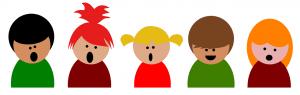 Chor Illustration Kinder klein