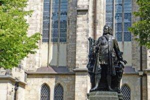 Neue Bach-Denkmal auf dem Thomaskirchhof Leipzig
