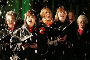 Weihnachtslidersingen im Chor