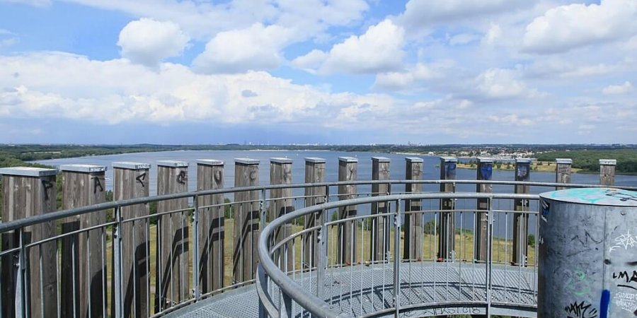 Bistumshöhe Leipziger Neuseeland Aussichtsturm / Blick von oben